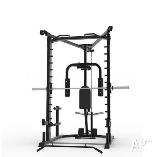 New Smith Machine, Lat / Row Fly Cables + Rack, AT10