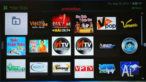 NEW Vietnamese TV BOX XBMC VietFace, phim, hai kich, cai