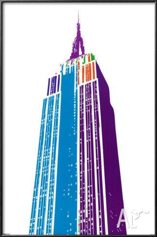 New York City Pop Art Poster Of The Empire State Building
