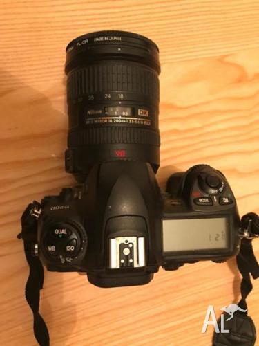Nikon D200 camera , 3 lenses and Flash , camera bag and