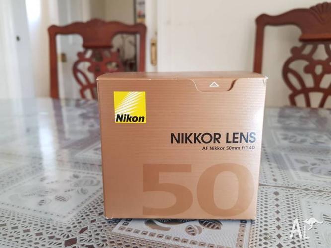 Nikon Nikkor Lens AF-D 50 f1.4. Like new. Rarely use