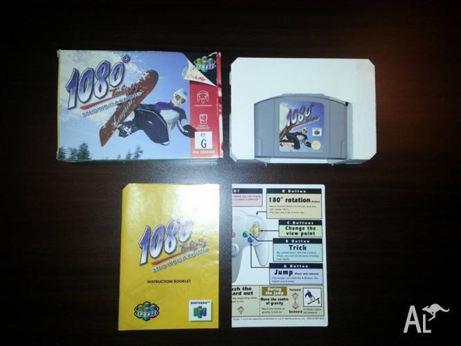 Nintendo 64 N64 1080 Snowboarding Complete