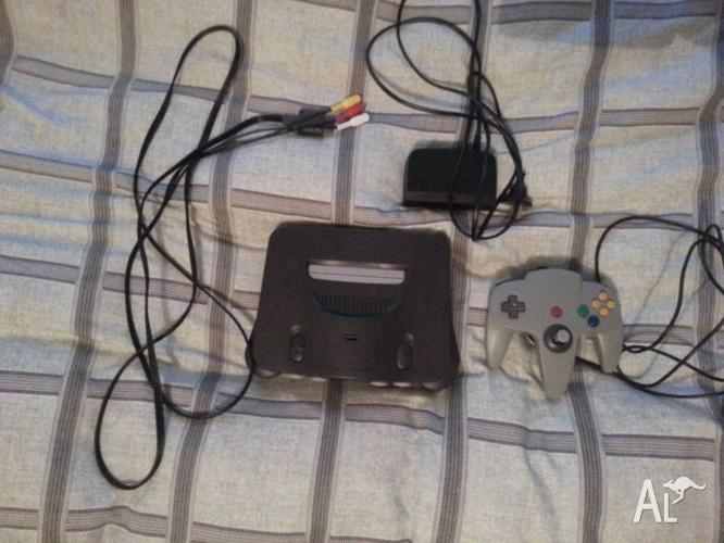 Nintendo 64 N64 console, with controller.