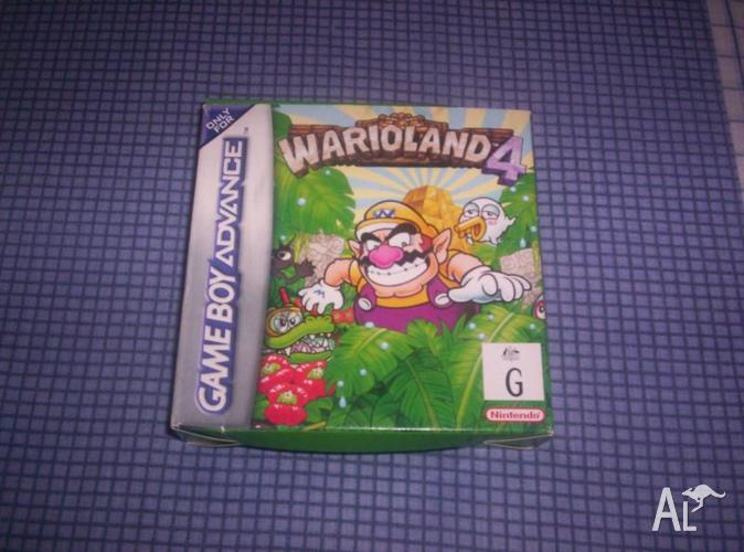 Nintendo Gameboy Advance Game Warioland 4 Boxed Like
