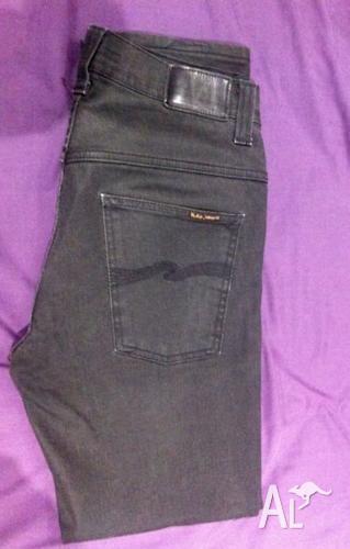 Nudie Jeans Dry Black Thin Finn W32 L34.
