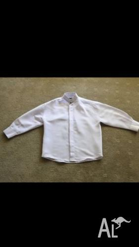 OGEE boys long sleeved white dress shirt-Size 2