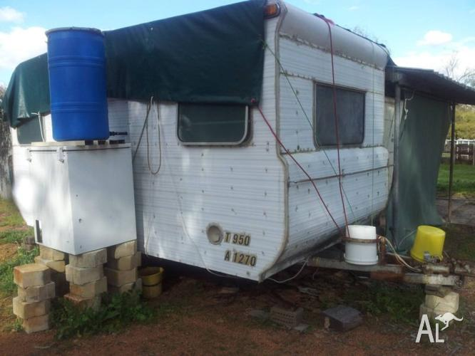 Old caravan - pretty rough but still usable and has