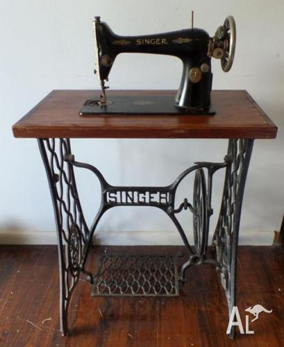Old Singer Sewing Machine And Cast Iron Stand Table For Sale In Adorable Older Singer Sewing Machines