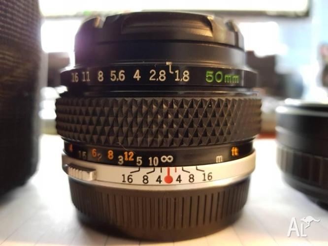 Olympus 50mm f1.8 Lens with Sony FE Mount Adapters