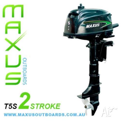Outboard Motor - 5 HP 2-Stroke Short Shaft