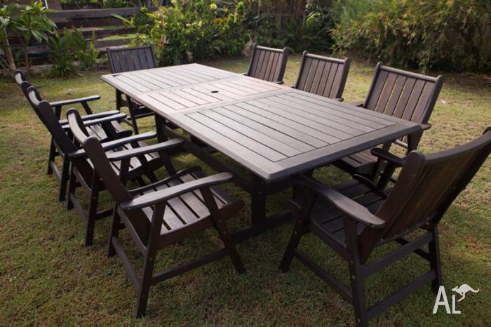 Outdoor timber dining setting