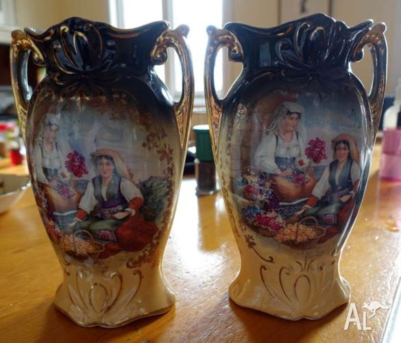 Pair Antique English Vases