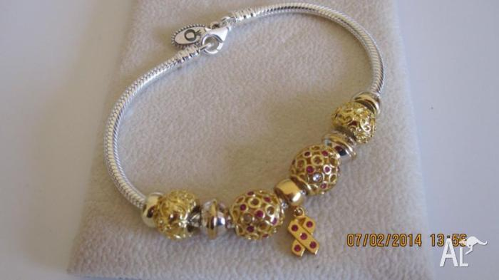 a1076e252 Pandora lobster clasp Bracelet with charms for Sale in PORT ...