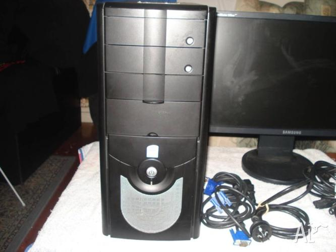 PC PENTIUM TOWER AND TWO SCREENS COMPLETE