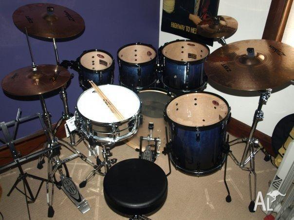 Pearl Vision VBX 6 Piece Drum Kit W Zildjian ZBT
