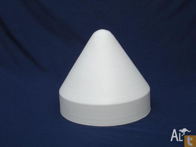 Pile Caps - 350mm - White Polyethylene