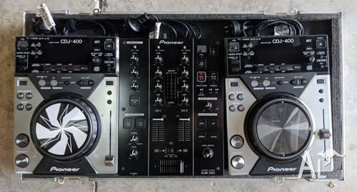 Pioneer DJ System 2 x CDJ400 DJM350 in Roadcase