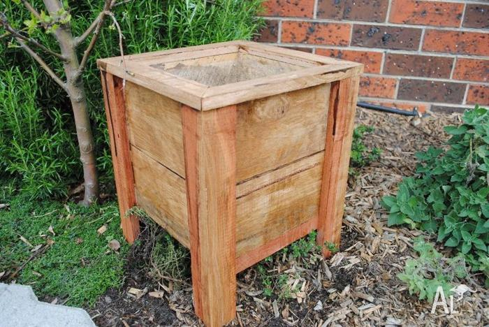 Planter Timber Boxes Hardwood Wooden Outdoor Herb For Sale