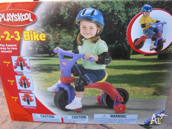 Playskool Stage 1 2 3 Bike With Without Training Wheels Age2 5 Yo