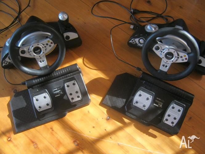 Playstation/ X-box Steering Wheel and Footpedals