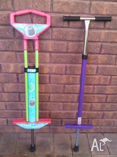 Pogo Sticks x2 for Children to 50kg body weight.