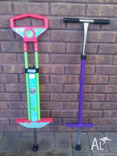 Pogo Sticks x2 for Children to 50kg body weight.