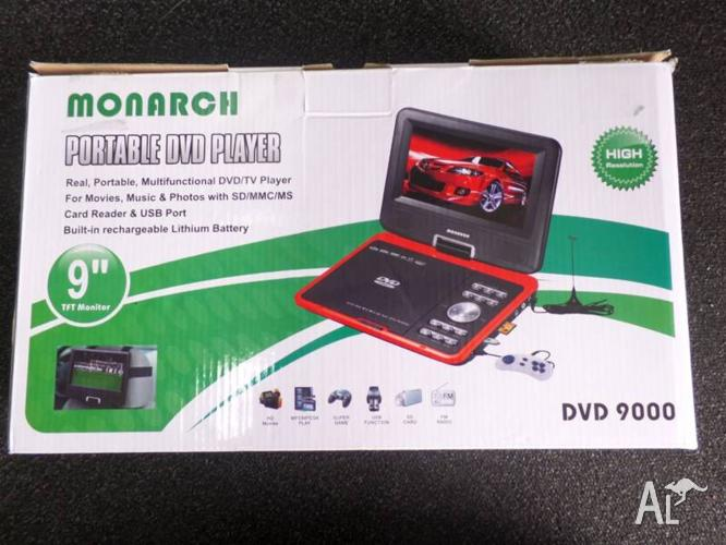 PORTABLE DVD PLAYER - MONARCH CAR DVD PLAYER RED