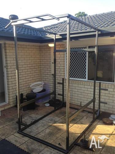 Power rack squats bench dips chin ups plus more