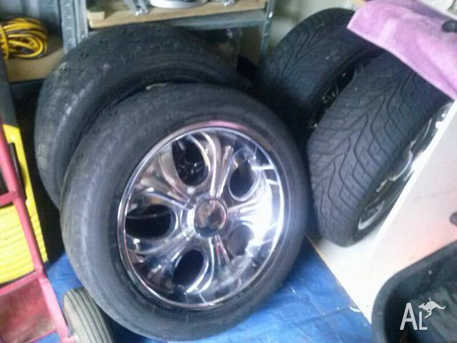PRICE DROP20INCH HOLDEN RODEO MAGS/RIMS GOOD RWC TYRES