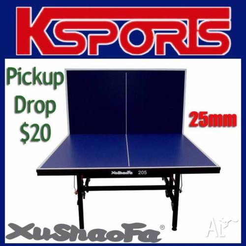PRO SIZE TABLE TENNIS TABLE 25MM THICK TOP