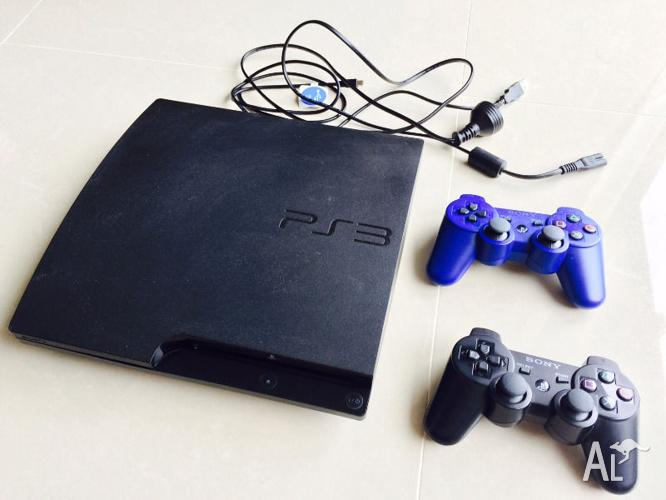 PS3 Console, 2 Controller & PS3 games