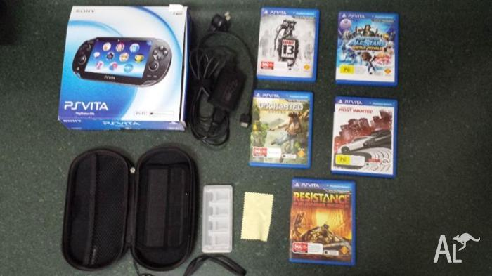 Ps vita, 16gb sd card, 5 games and starter pack