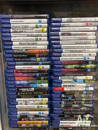 PS ViTa games for sale, message for prices.