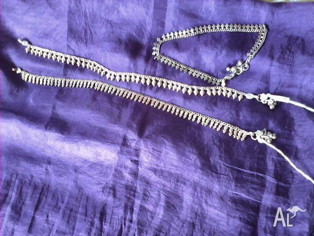 pure silver anklet from India