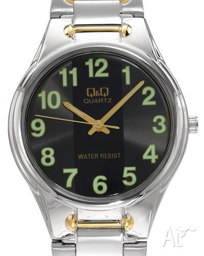 Q&Q MENS WATCH WITH GLOW IN THE DARK NUMERALS AND HANDS
