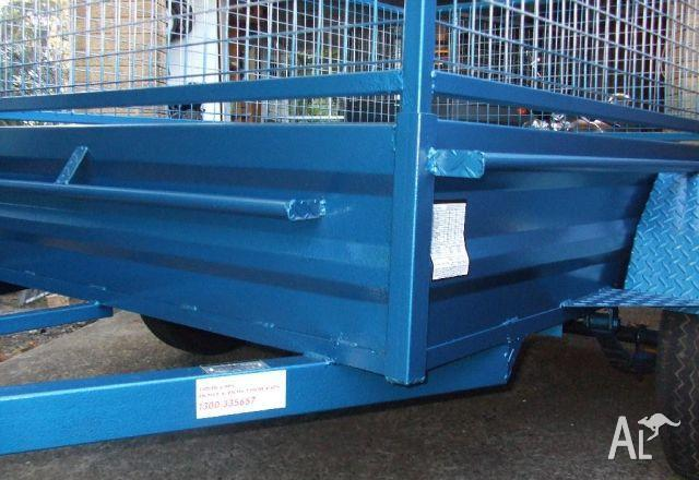 Q Trailers 7x5 heavy duty box trailer with cage opt