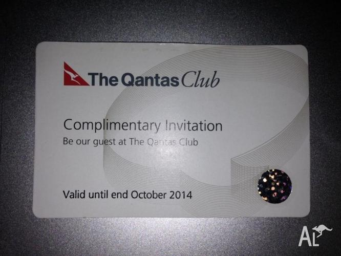 Qantas Club Lounge Pass (Valid till end of October)