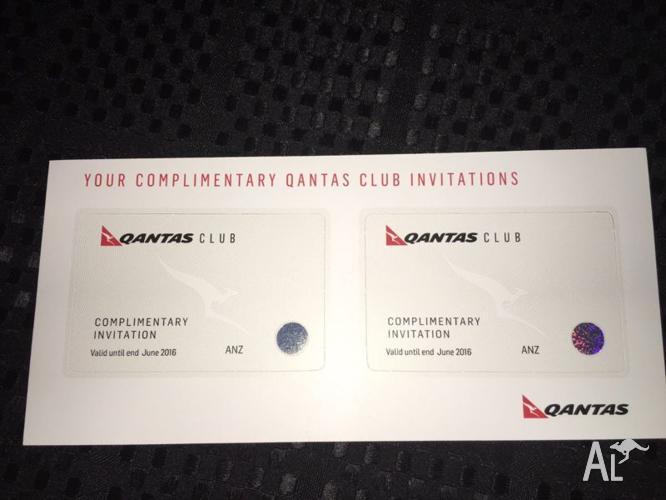 Qantas Club Lounge Pass x2