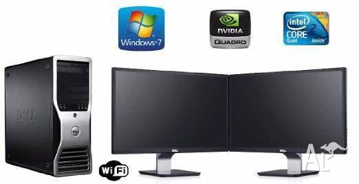 QUAD CORE DUAL SCREEN PROFESSIONAL WORK-STATION $550!!
