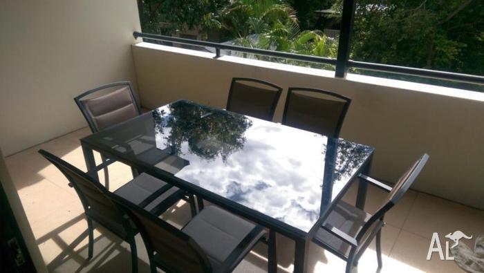 Quality 6 chair aluminium outdoor setting