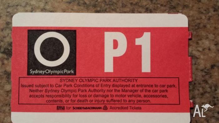 Queen Adam Lambert Parking Ticket P1 Olympic Park For Sale In