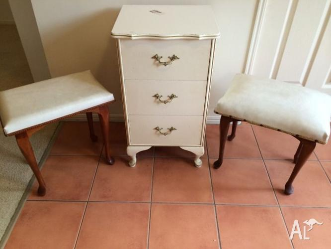 Queen Anne Bedside Drawers/Stools