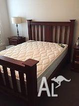 Queen size bed, mattress and 2 x bedsides!!