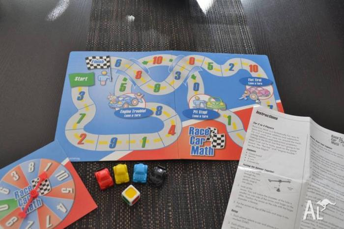 Racing Car Maths Board Game with Spinner