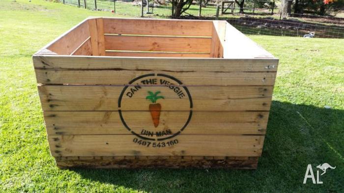 Raised Veggie Herb Garden Planter Box Apple Crates For