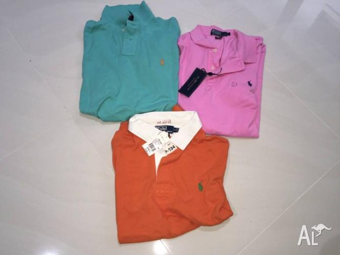 RALPH LAUREN POLOS, 3 FOR $70, NEW, SIZE M & LARGE