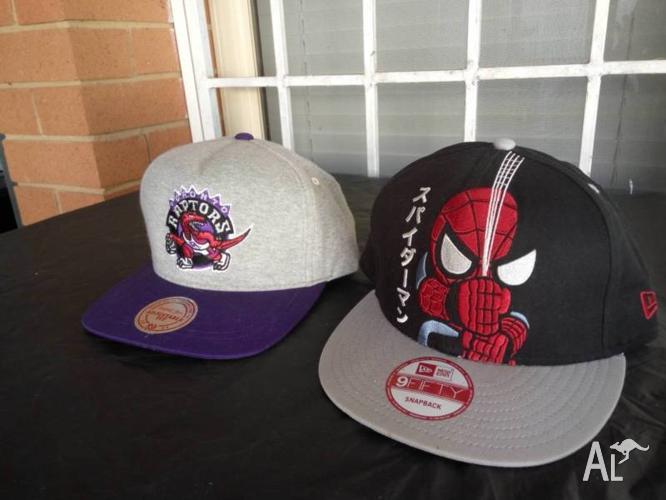 Raptors cap & spiderman cap snap back