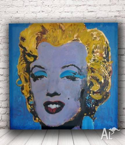 Rare Original Melrin Monroe 60x60cm on Matboard framed