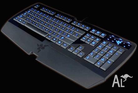 Razer Lycosa Gaming USB keyboard blue led keys