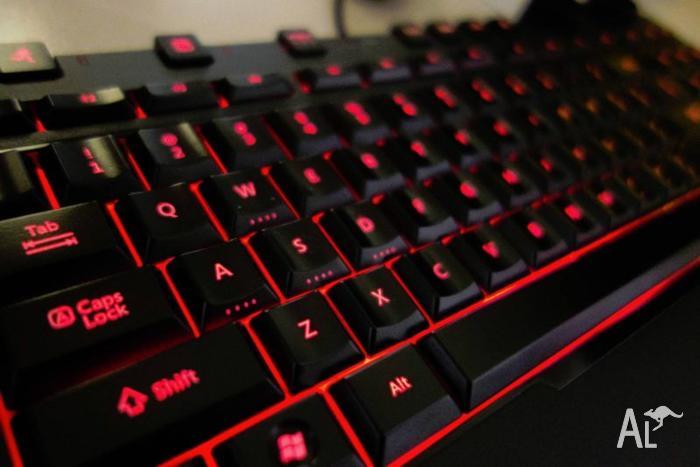 Red Backlit TKL Modular Keyboard